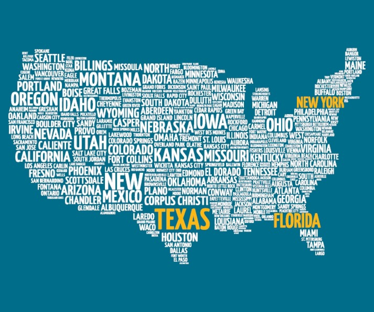 Word Map of USA
